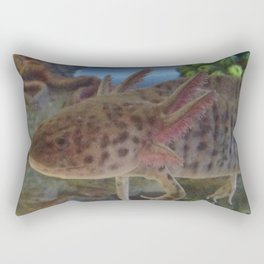 Wild Axolotl Rectangular Pillow