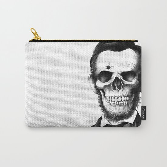 Lincoln Skull Carry-All Pouch