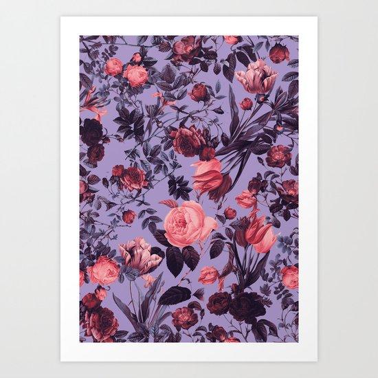 Romantic Floral Pattern Art Print