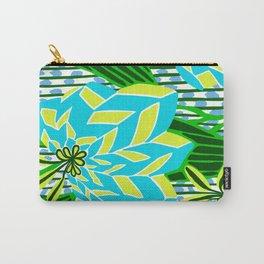 BAYAMO: BLUE GREEN DREAM, Art Deco Tropical Carry-All Pouch