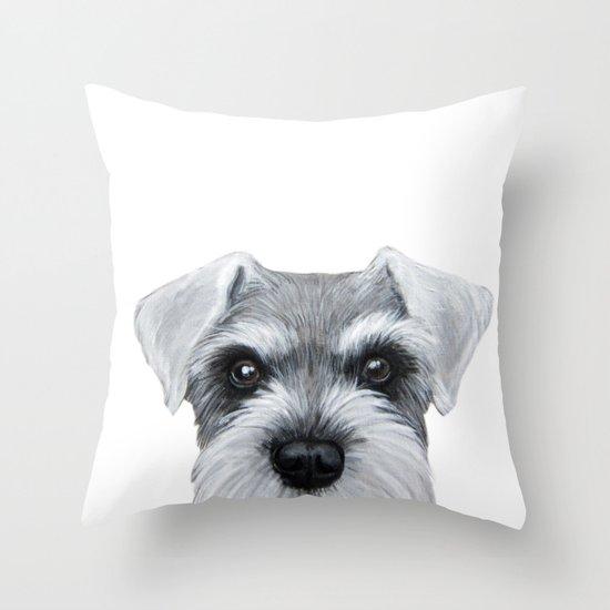 Schnauzer Grey&white, Dog illustration original painting print by miartdesigncreation