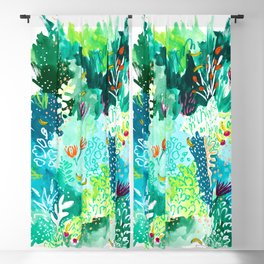 Twice Last Wednesday: Abstract Jungle Botanical Painting Blackout Curtain