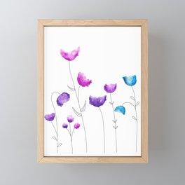 Blooming Fresh Flowers Framed Mini Art Print