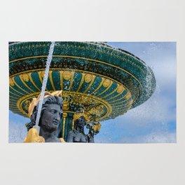 Fountain at Place de la Concorde Paris Rug