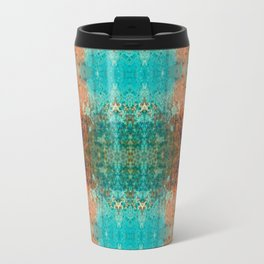 Distressed Southwestern Inspired Turquoise Pattern Design Travel Mug