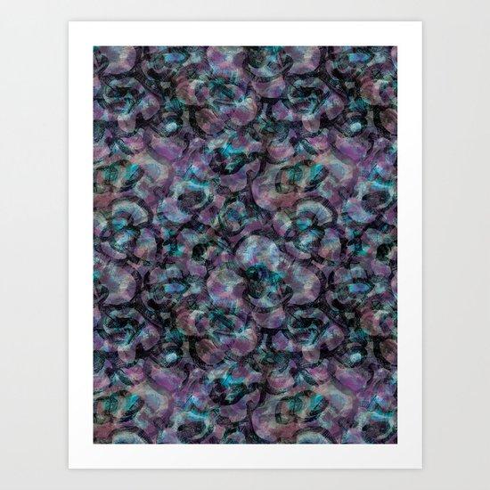 Misty Violets Art Print