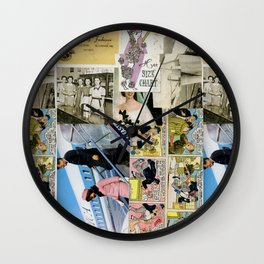 Vintage Collage #1 Wall Clock