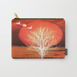 Sun in red Carry-All Pouch