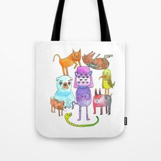 Animal Pyramid Tote Bag