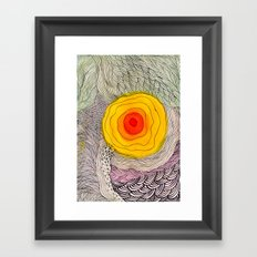 abstract sun flower Framed Art Print