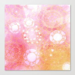 Circles Sunset Canvas Print