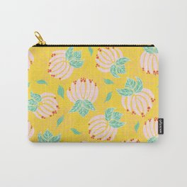 Blush Bloom Peony Lemon Carry-All Pouch