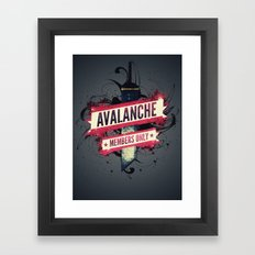 Final Fantasy VII - Avalanche Member's Only Framed Art Print