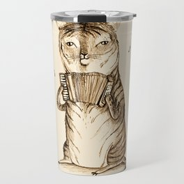 Accordion Tiger Travel Mug