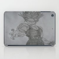 dragonball iPad Cases featuring Dragonball Z Trunks Sketch by bernardtime