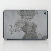 dragonball z iPad Cases featuring Dragonball Z Trunks Sketch by bernardtime