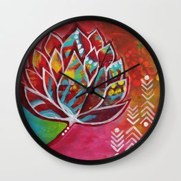 Blooming Beauty Wall Clock
