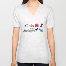 Ohio is for Swingers Unisex V-Neck