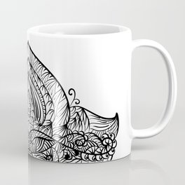 Hand Drawing Zentangle Element Coffee Mug