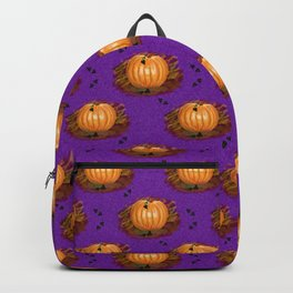 Pumpkin Pattern Purple Backpack