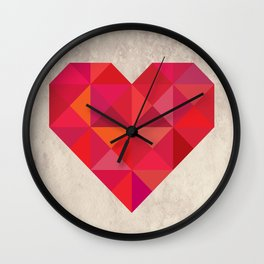 Heart geometry Wall Clock