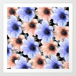 At Peace in My Garden: Floral Pattern Art Print