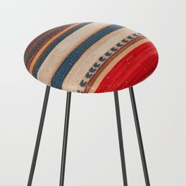 N66 - Classic Oriental Moroccan Style Fabric. Counter Stool