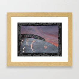 metal fish Framed Art Print