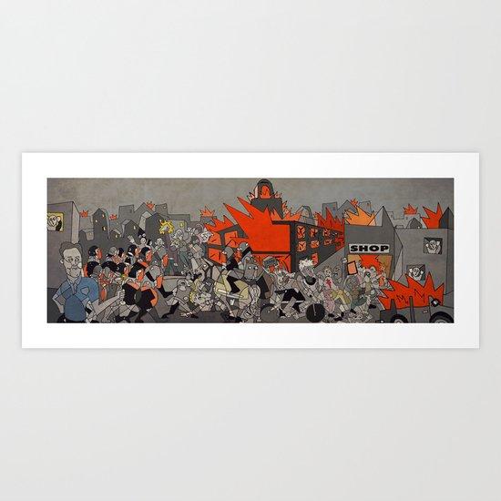2011 London Riots Art Print