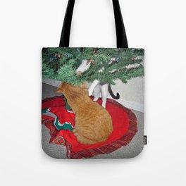 12 cats a-climbing Tote Bag