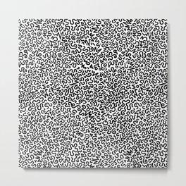 Wiggles Galore, B/W Metal Print