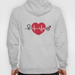 Love hearts EKG Hoody
