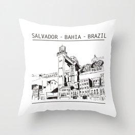 Salvador - Bahia - Brazil Throw Pillow