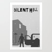 silent hill Art Prints featuring Silent Hill by Chandler Payne