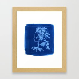 Blue goddess Framed Art Print