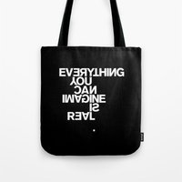pablo picasso Tote Bags featuring PABLO PICASSO by THE USUAL DESIGNERS