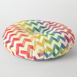 Rainbow triangle lines pattern Floor Pillow