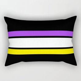 TEAM COLORS 2.....purple , yellow,white and black Rectangular Pillow