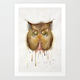 Vaguely Disturbing Owl Art Print