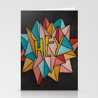 pixies Stationery Cards featuring HEY by Josh LaFayette