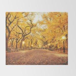 New York City Autumn Throw Blanket