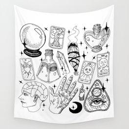 Fortune Teller Starter Pack Black and White Wall Tapestry