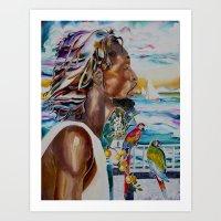 jamaica Art Prints featuring jamaica 1 by CarolBoerckel
