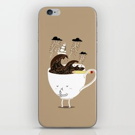 Brainstorming Coffee iPhone Skin
