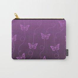 Purple Butterflies Pattern Carry-All Pouch