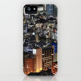 Tokyo Buildings at Night iPhone Case