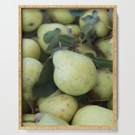 Fresh Picked Pears at Farmers Market Serving Tray