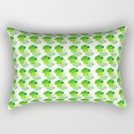 Broccoli green pattern Rectangular Pillow