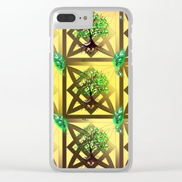 Celtic Tree Pattern Clear iPhone Case