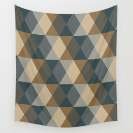 Caffeination Geometric Hexagonal Repeat Pattern Wall Tapestry